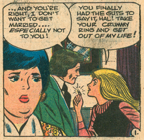"""""""I'll Be Alone..."""" Secrets of Young Brides  #5 (March 1976) Pencils and Inks: Art Cappello"""