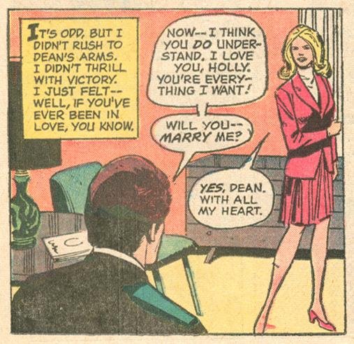 """Winner Take All""  Falling in Love  #137 (October 1972) Pencils: Win Mortimer, Inks: Vince Colletta"