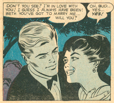 """""""A Lifetime of Love!""""  Girls' Love Stories  #60 (February 1959)"""
