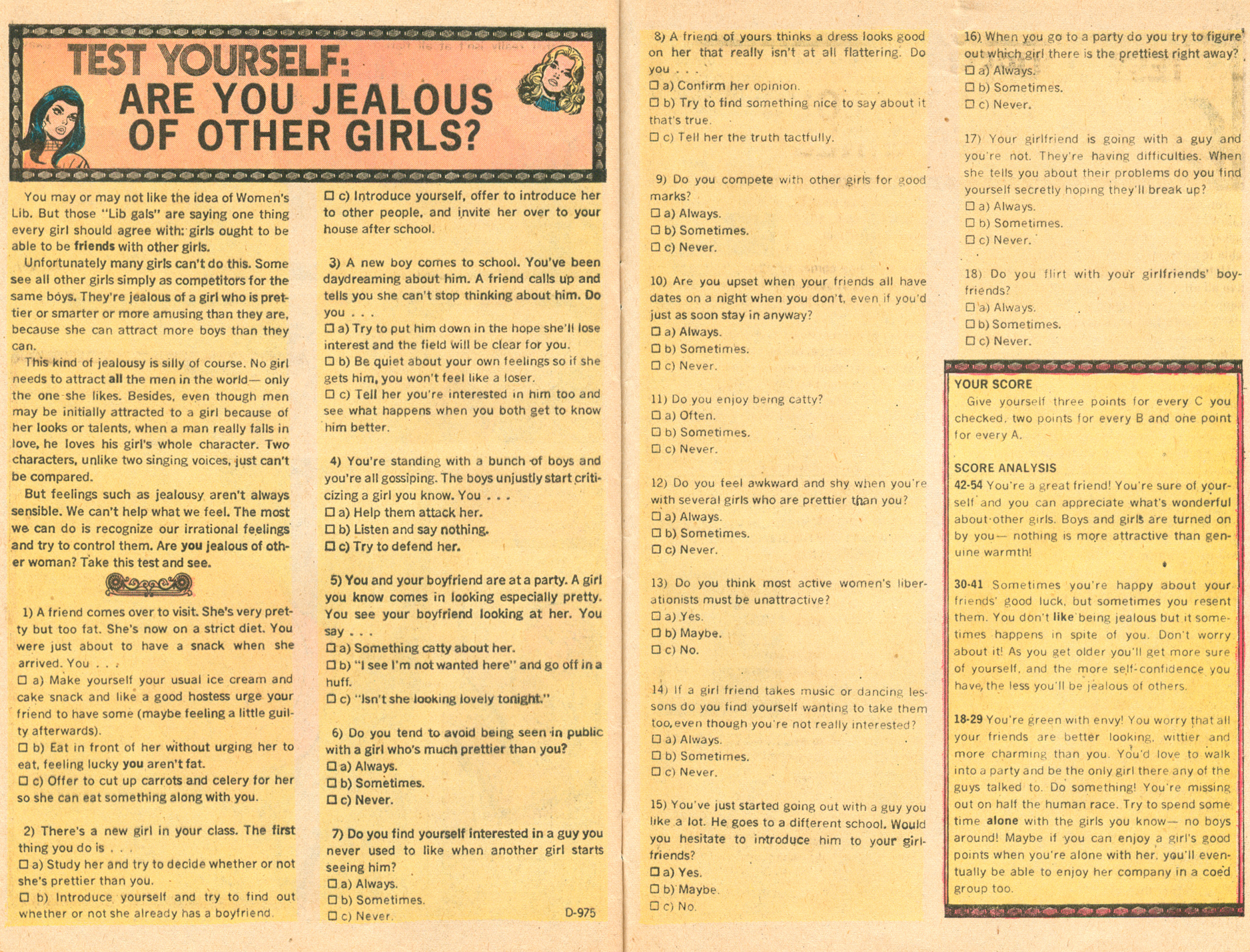 Young Love 99 1970s romance comic books Tony DeZuniga Quiz