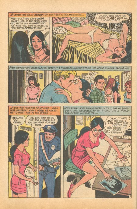 Falling in Love #128 (January 1972) romance comic book sequential crush
