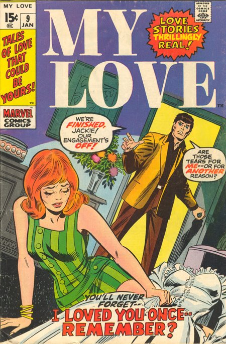 The cover of  My Love  #9 (January 1970)