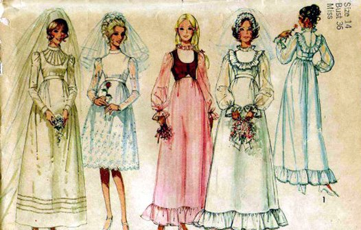 Extremely different from today's wedding fashions!