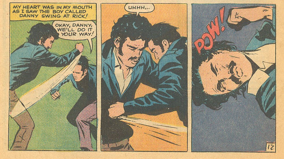 "Though not very ""romantic,"" these three panels are my favorite in the whole book. They are super action-packed!"