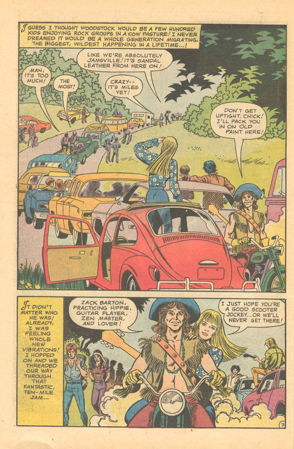 """""""I Found My Love at the Woodstock Festival!"""" from  Falling in Love #118 (October 1970)"""