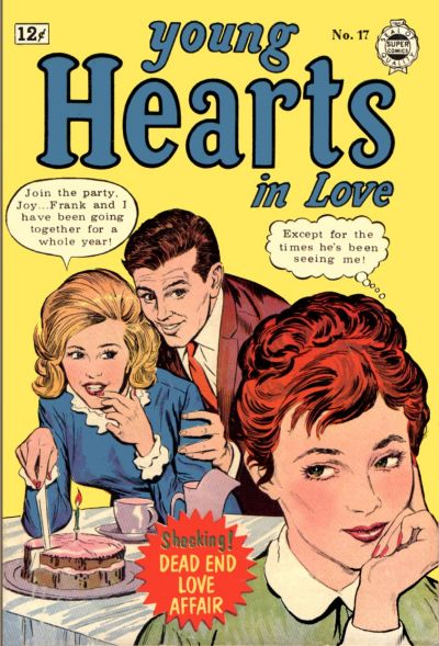Pencils and Inks by Joe Simon  Young Hearts in Love  #17 (1963) Image from the Grand Comics Database
