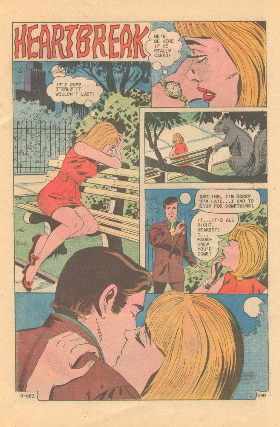 It looks like the writer on this one was a true believer in Shakespeare's theory on brevity!  Sweethearts  #120 (November 1971) Pencils by Charles Nicholas, Inks by Vincent Alascia