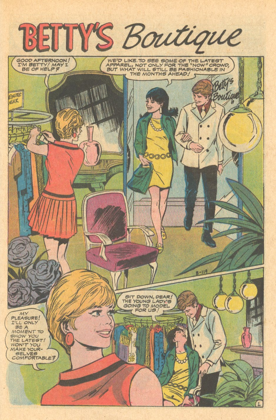 Romance Comic Books Betty's Boutique DC Comics