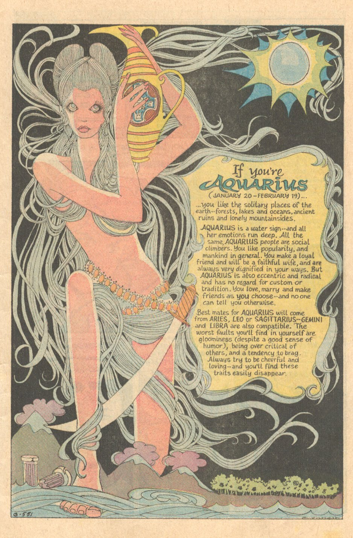 """If You're Aquarius"" Secret Hearts #142 (March 1970)"