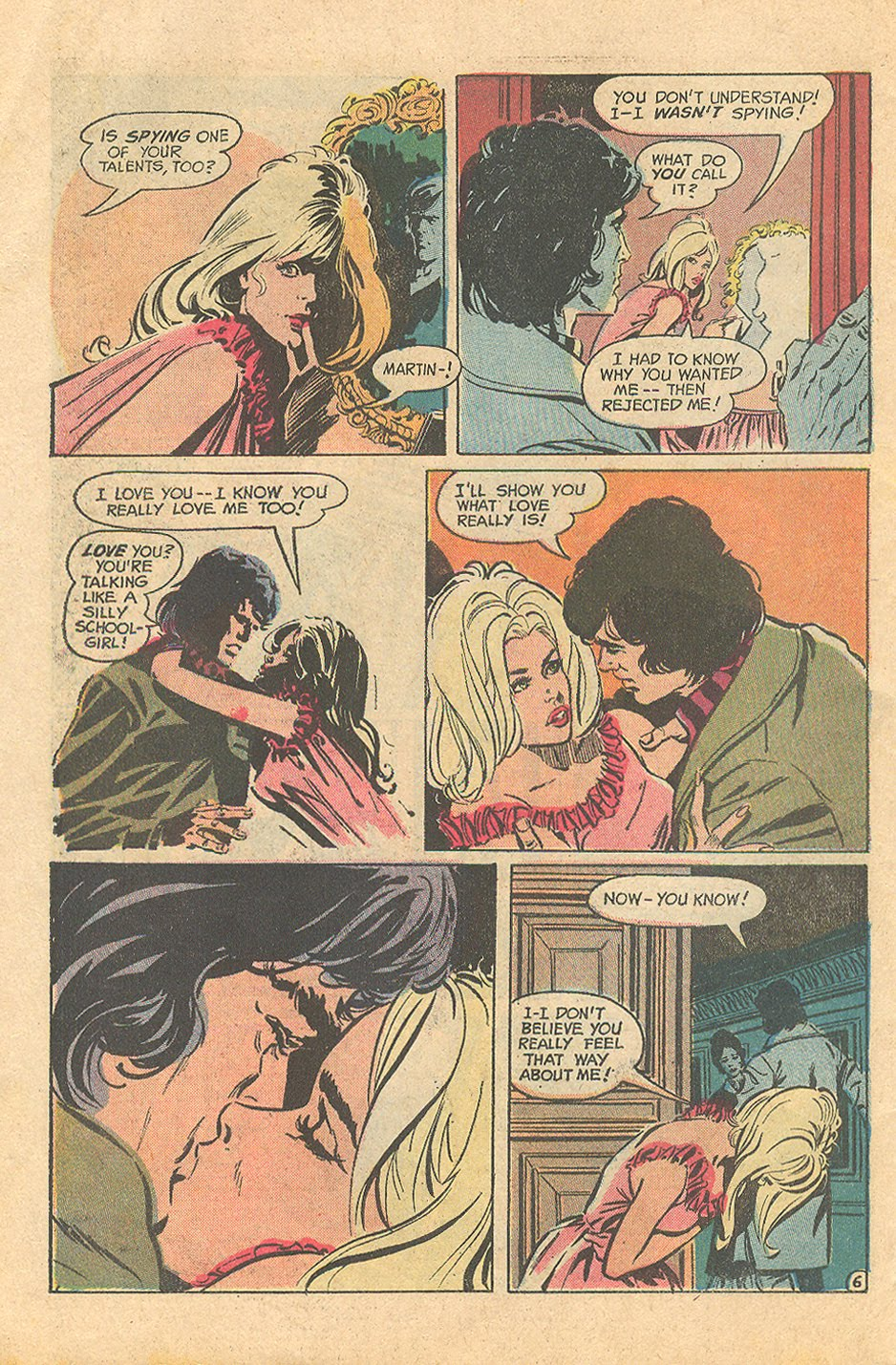 """""""I Shouldn't Have Stayed!""""  Falling in Love  #139 (January/February 1973)"""