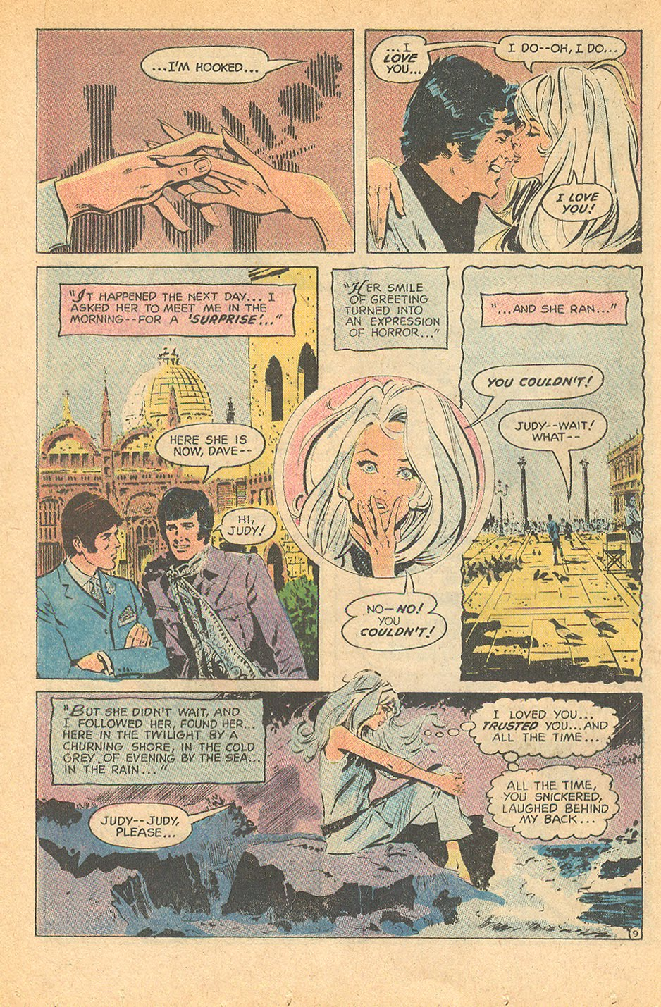 """I'm hooked, too! """"A Scent of Love... a Breath of Hate""""  Secret Hearts  #150 (March 1971)"""