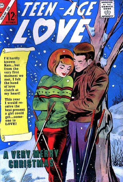 A rare holiday cover (image from the  GCD )  Teen-Age Love  #44 (October 1965)