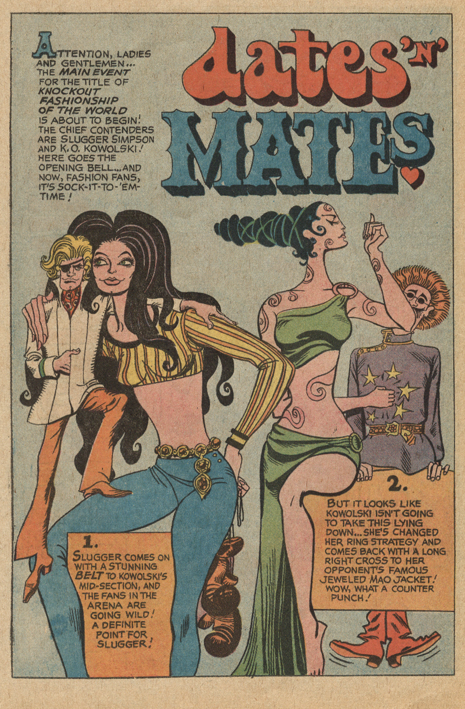 """Dates 'n' Mates"" Young Romance #160 (June/July 1969) Illustrated by Ric Estrada"