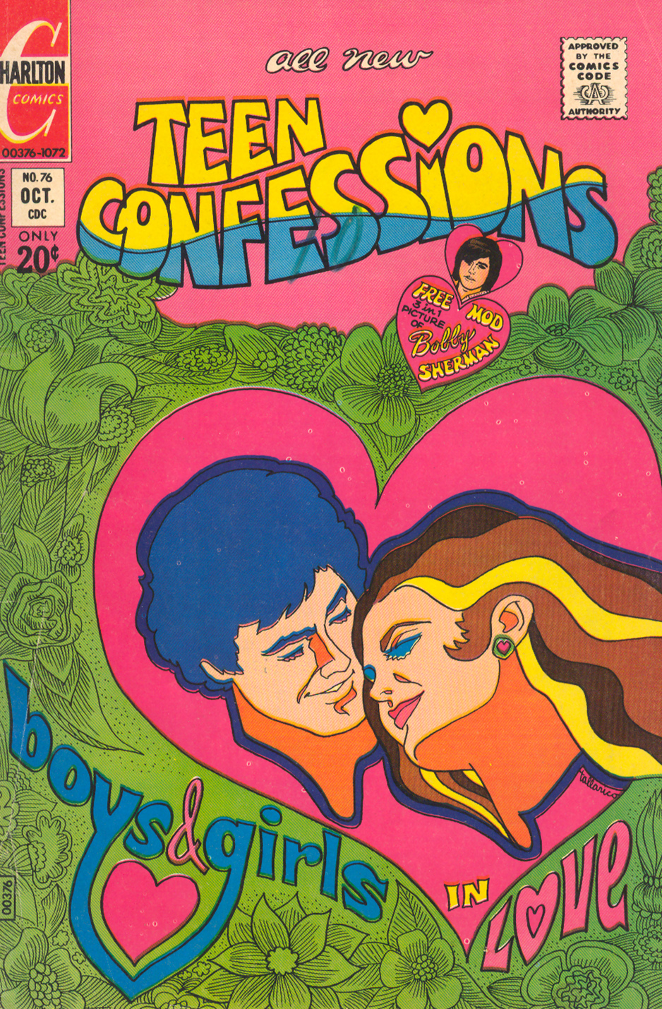 Teen Confessions  #76 (October 1972) Illustrated by: Tony Tallarico