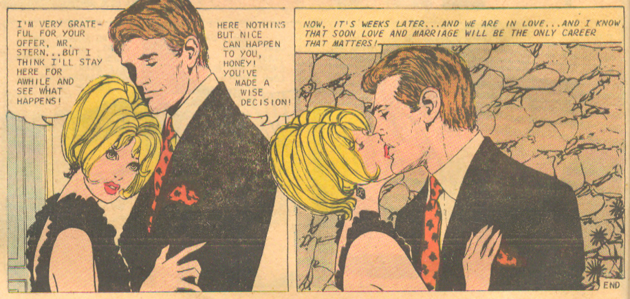 """No Time for Kisses..."" Pencils and Inks: Luis Avila  Career Girl Romances  #62 (April 1971)"