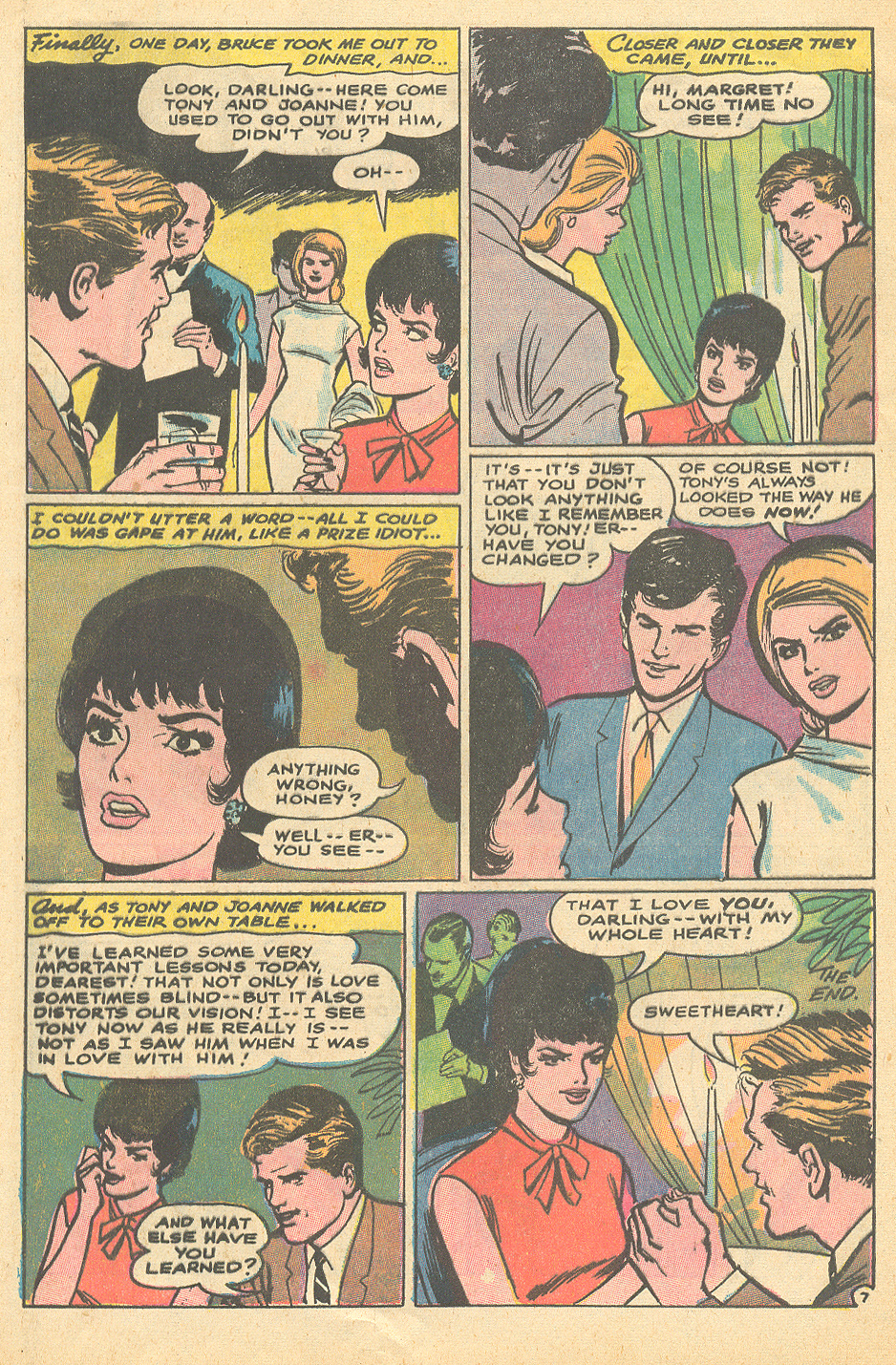 """How Can I Forget His Face?"" from Heart Throbs #110 (October/November 1967) Win Mortimer"