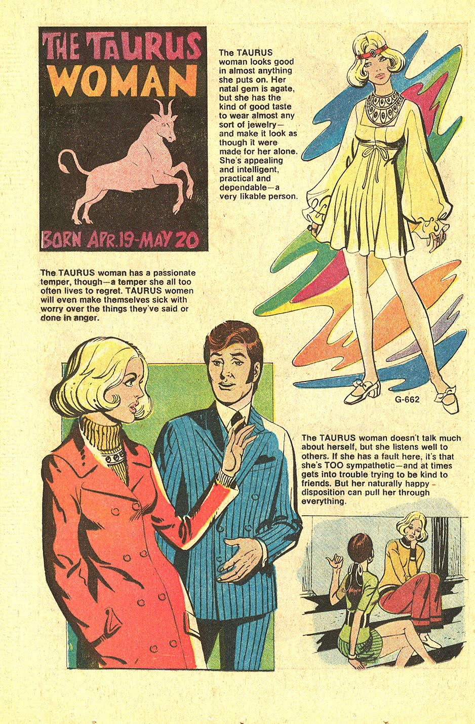 """That's me! """"The Taurus Woman""""  Young Love  #80 (May/June 1970)"""