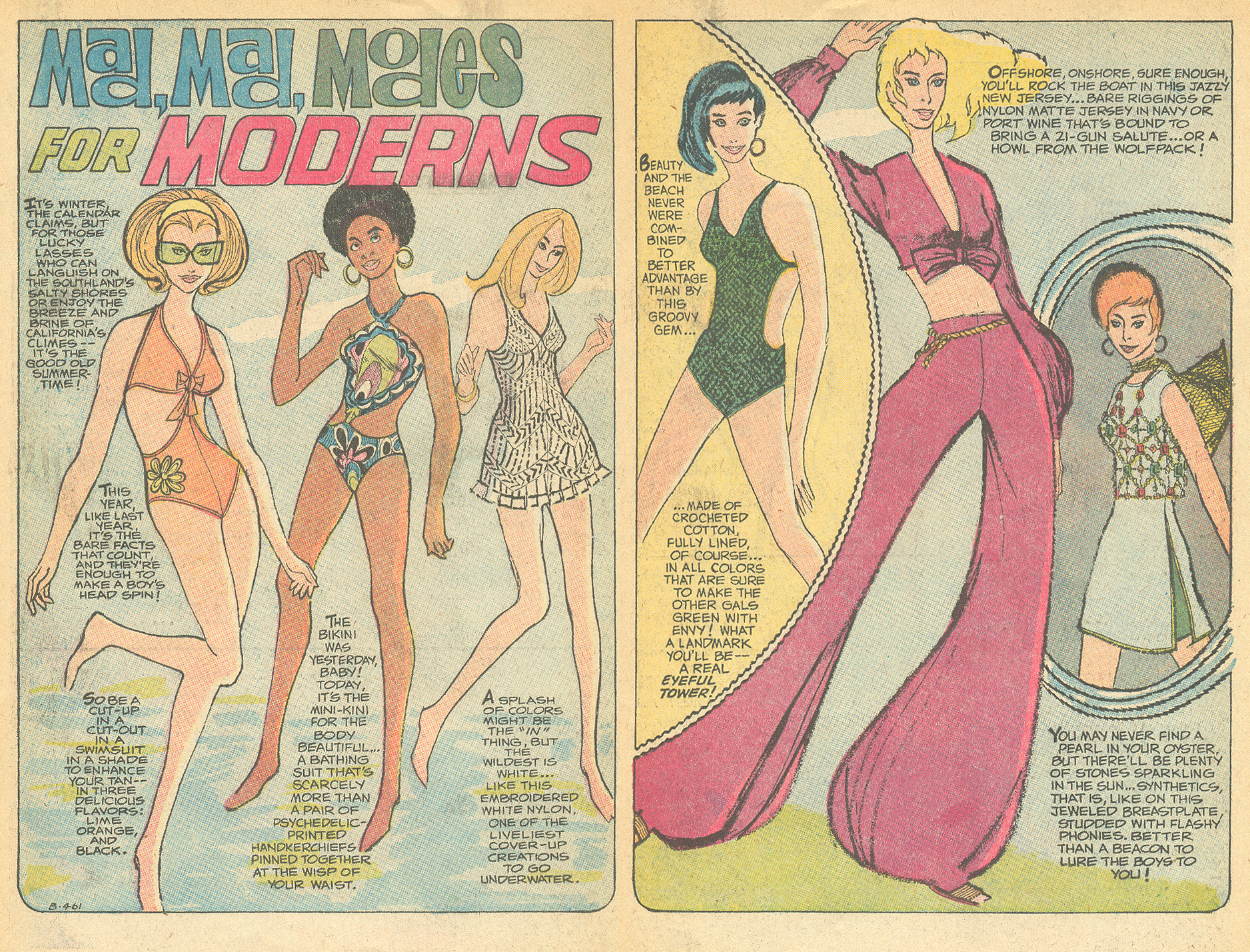 """Mad Mad Modes for Moderns""  Girls' Romances  #147 (March 1970)"
