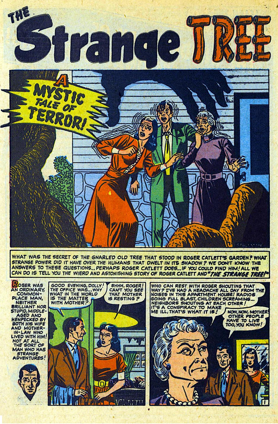 """The Strange Tree""  Mystic  #1 (March 1951)   Scan from The Horrors of It All"