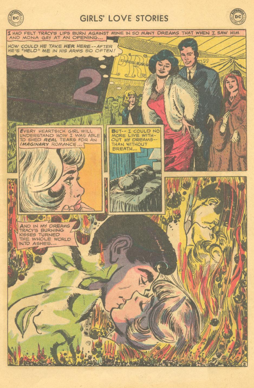 """""""Burn, Heart -- Burn!""""  Girls' Love Stories  #113 (August 1965)"""