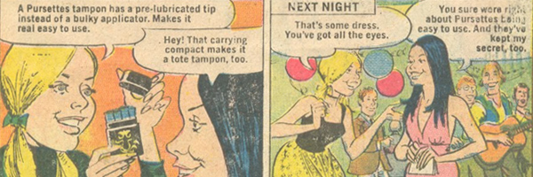 Selling Romance - Pursettes Tampon Ads