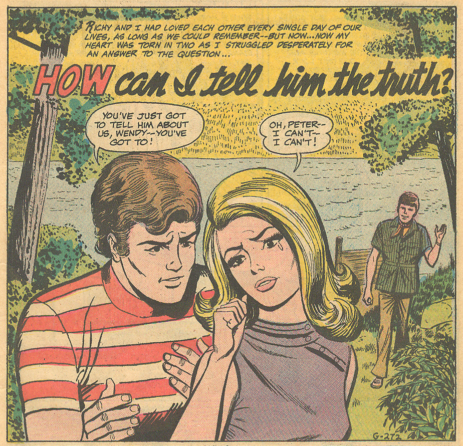 """""""How Can I Tell Him the Truth?""""  Secret Hearts  #139 (October 1969)"""