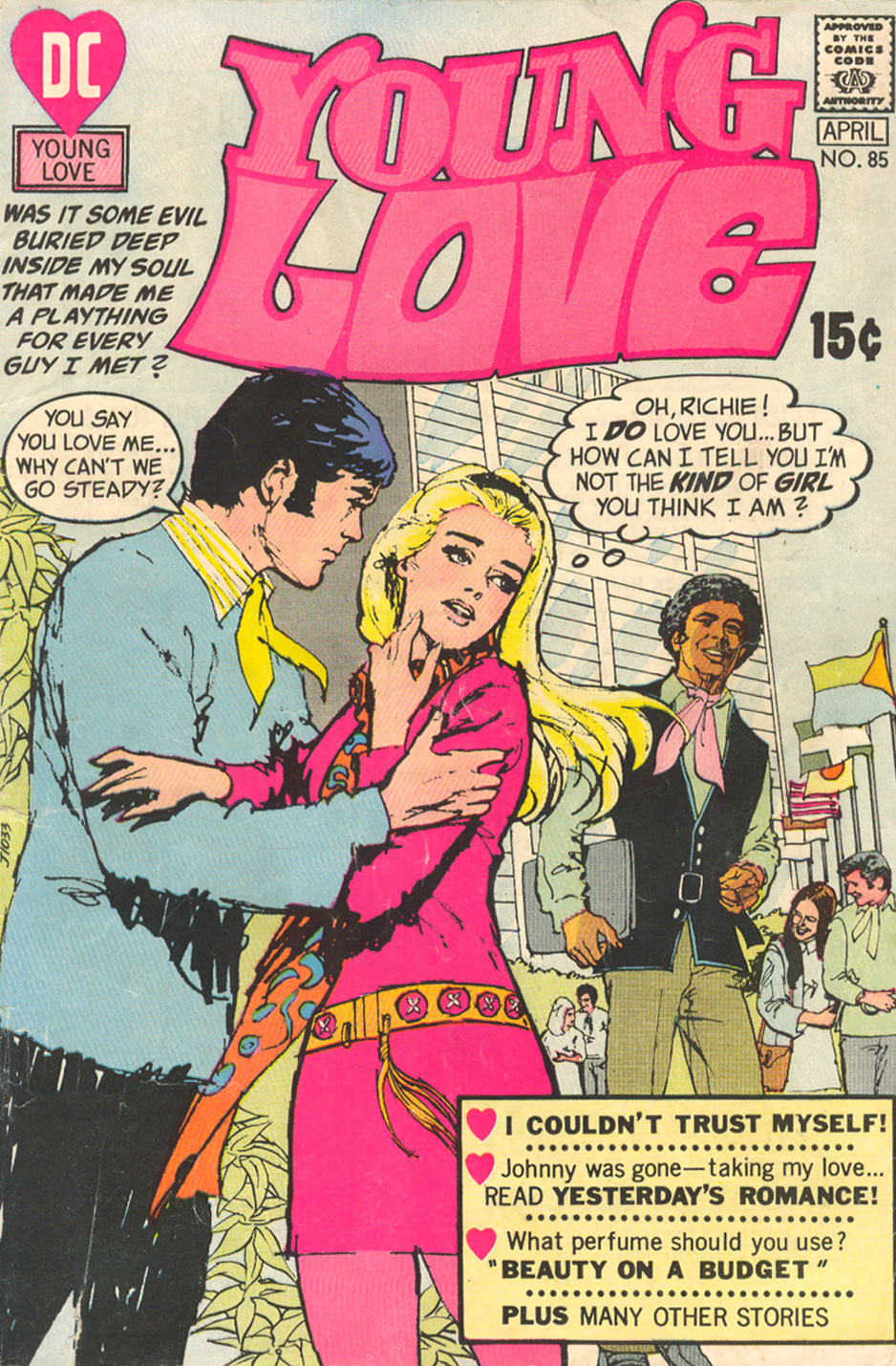 Young Love  #85 (March/April 1971) Cover by Tony DeZuniga