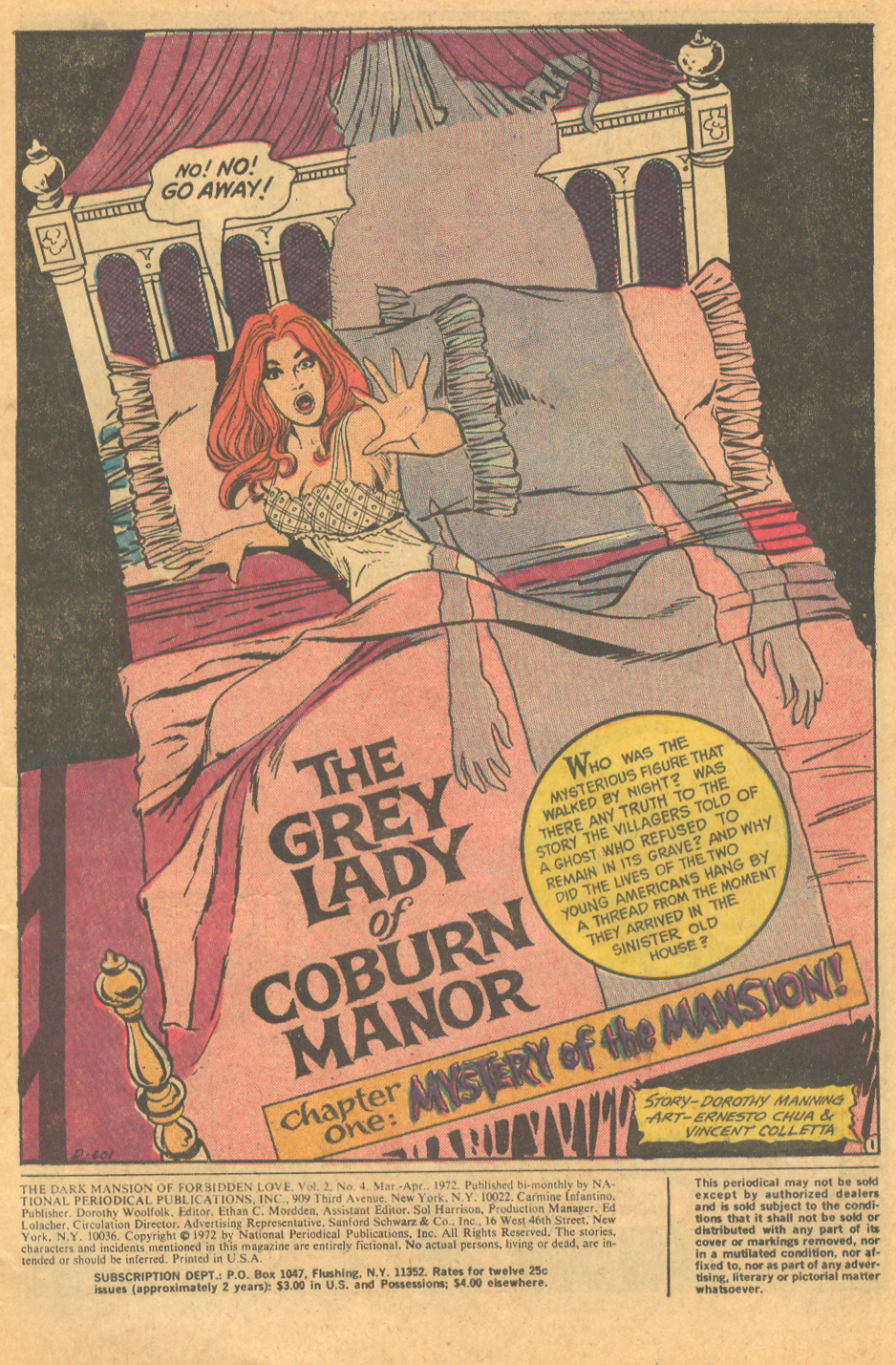 The Dark Mansion of Forbidden Love #4 (March/April 1972) Cover by Nick Cardy
