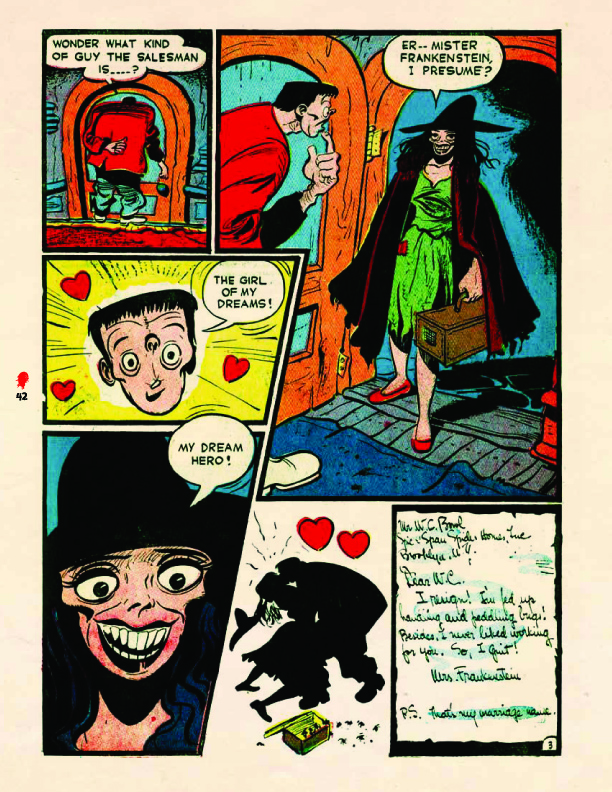 """""""Frankenstein's Wife"""" from the Prize title, Frankenstein Comics #1 (1945) Sequential Crush"""