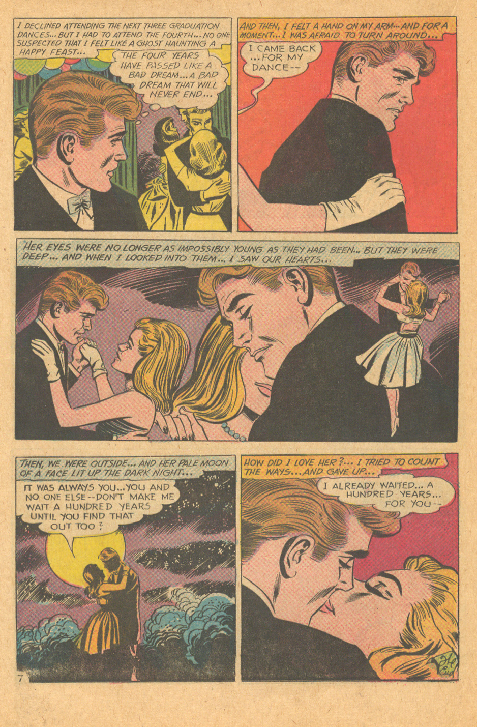 Guy's point of view romance story comic book DC