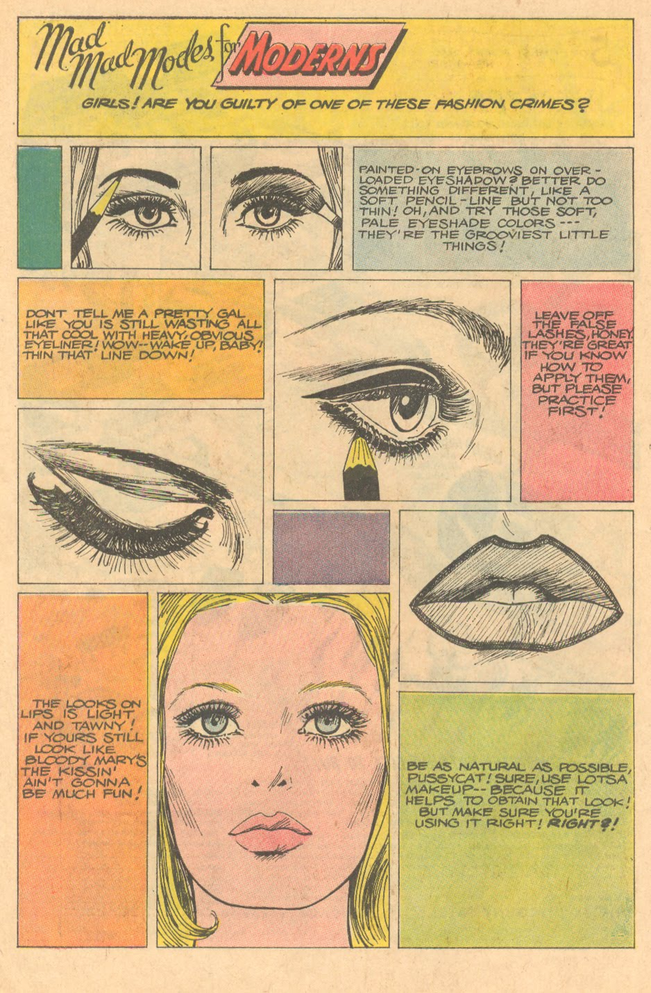 """Mad Mad Modes for Moderns""  Girls' Romances  #140 (April 1969)"
