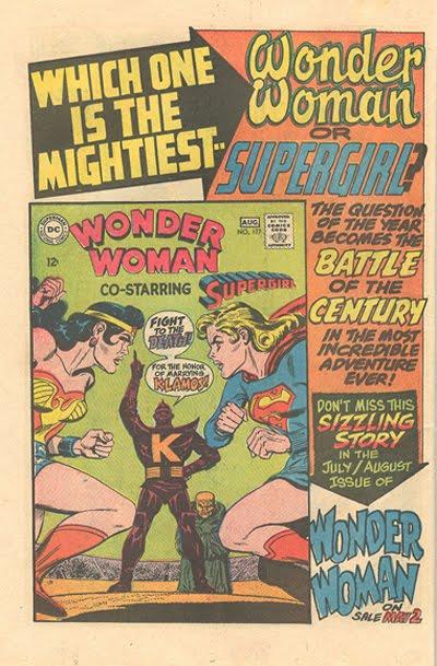 Wonder Woman comic book advertisement