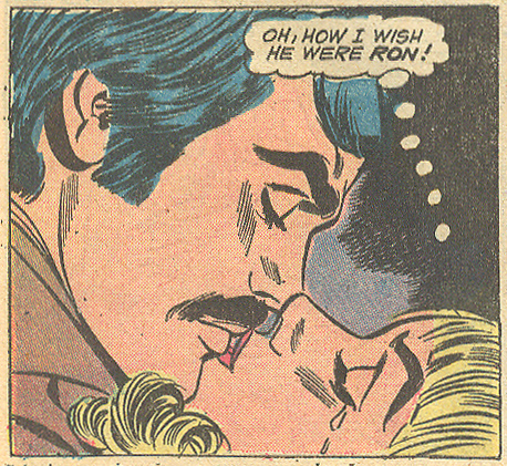 "Mustaches were no guarantee to a woman's affections, however. ""One More Chance!""  Heart Throbs  #146 (October 1972)"
