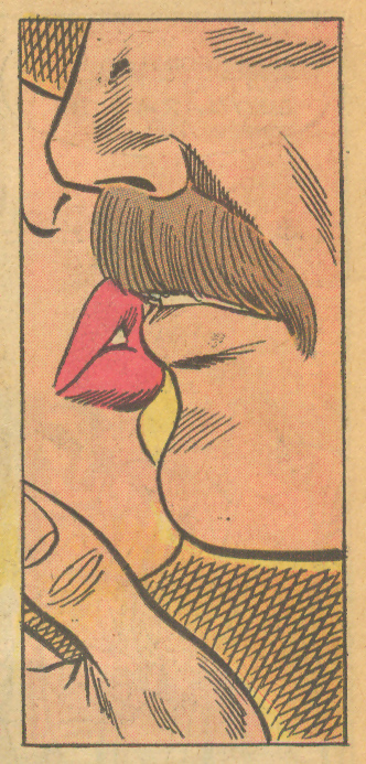"But in the end, sometimes it is the guy with the mustache that wins over the girl's heart!!! ""First Date!""  Falling in Love  #142 (August/September 1973)"