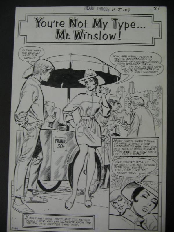 Art Saaf romance comic book original art sequential crush
