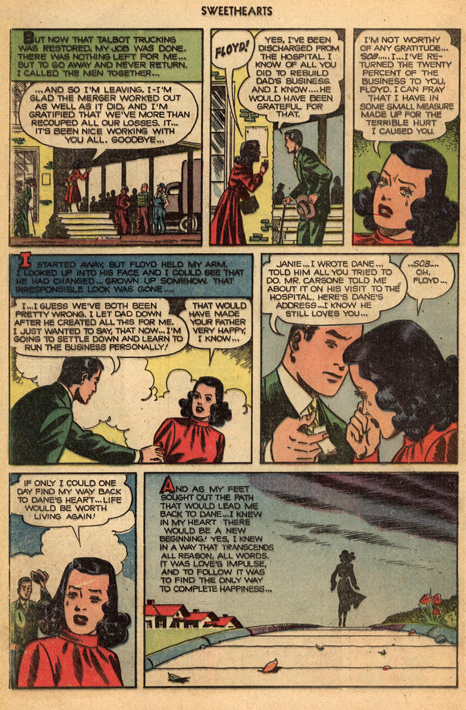 Fawcett vintage romance comic books sequential crush