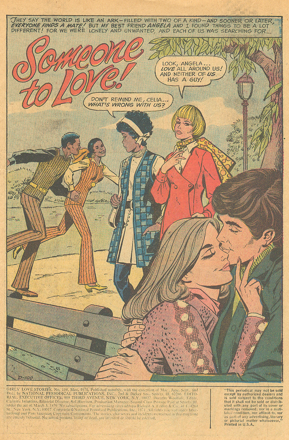 """""""Someone to Love!"""" from DC's Girls' Love Stories #159 (May 1971) Civil rights movement"""