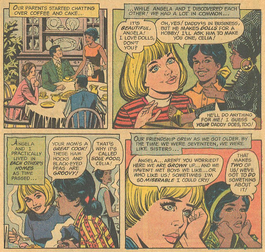 Interracial friendship romance comic books 1970s DC Comics
