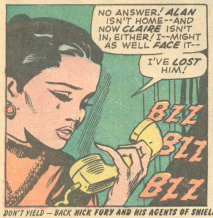 """""""He's Hers, But -- I Want Him!""""  Our Love Story  # 21 (February 1973) Pencils: Gene Colan, Inks: Dick Ayers"""