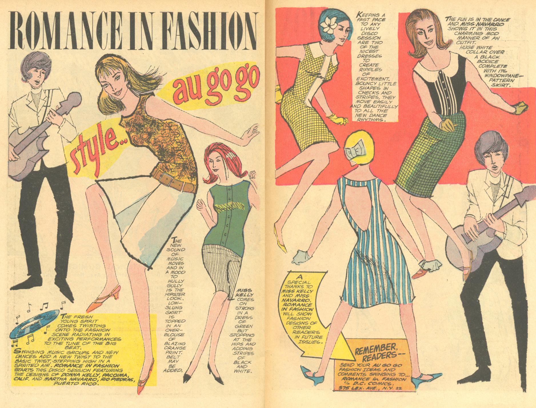 """Romance in Fashion""  Heart Throbs  #98 (October/November 1965)"