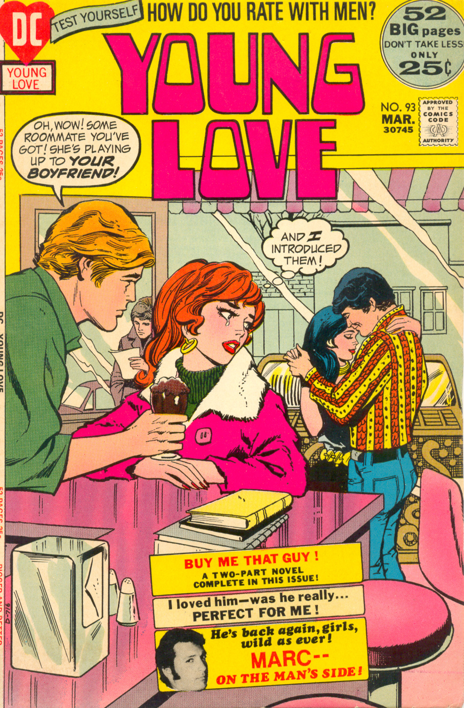Young Love  #93 (March 1972) Pencils: John Rosenberger, Inks: Vince Colletta