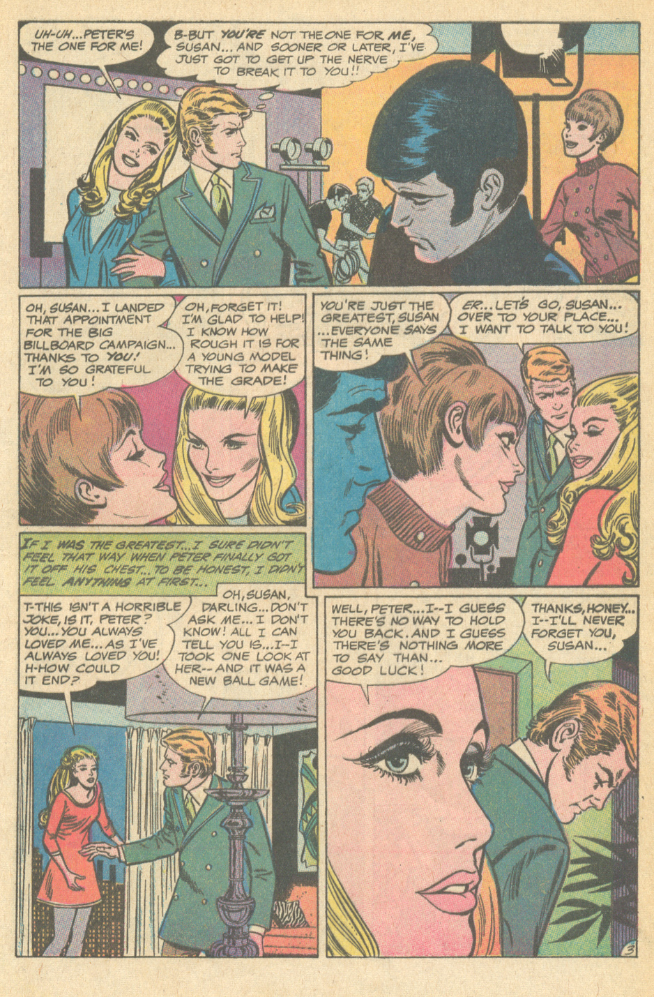 Suicide in romance comic books story dramatic