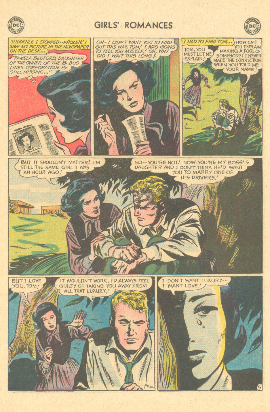 """Inks: Gene Colan, """"I Would Never Find Love!""""  Girls' Romances  #98 (January 1964)"""