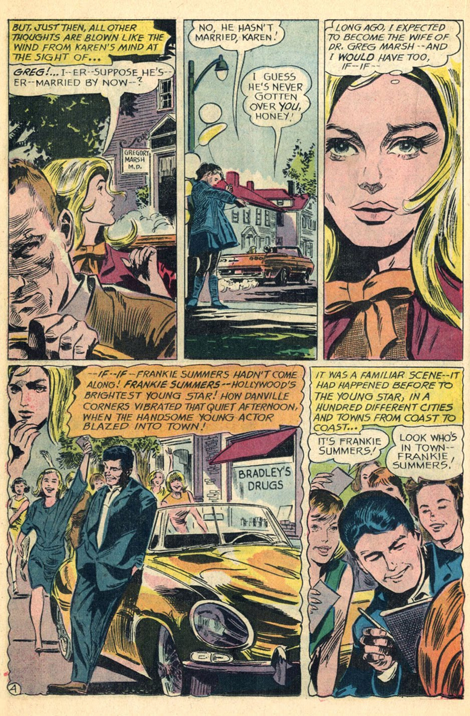 """Inks: Gene Colan, """"Reach for Happiness!"""" Episode One  Secret Hearts  #110 (March 1966)"""