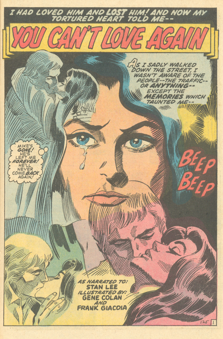 """Inks: Frank Giacoia, """"You Can't Love Again!""""  Our Love Story  #4 (April 1970)"""
