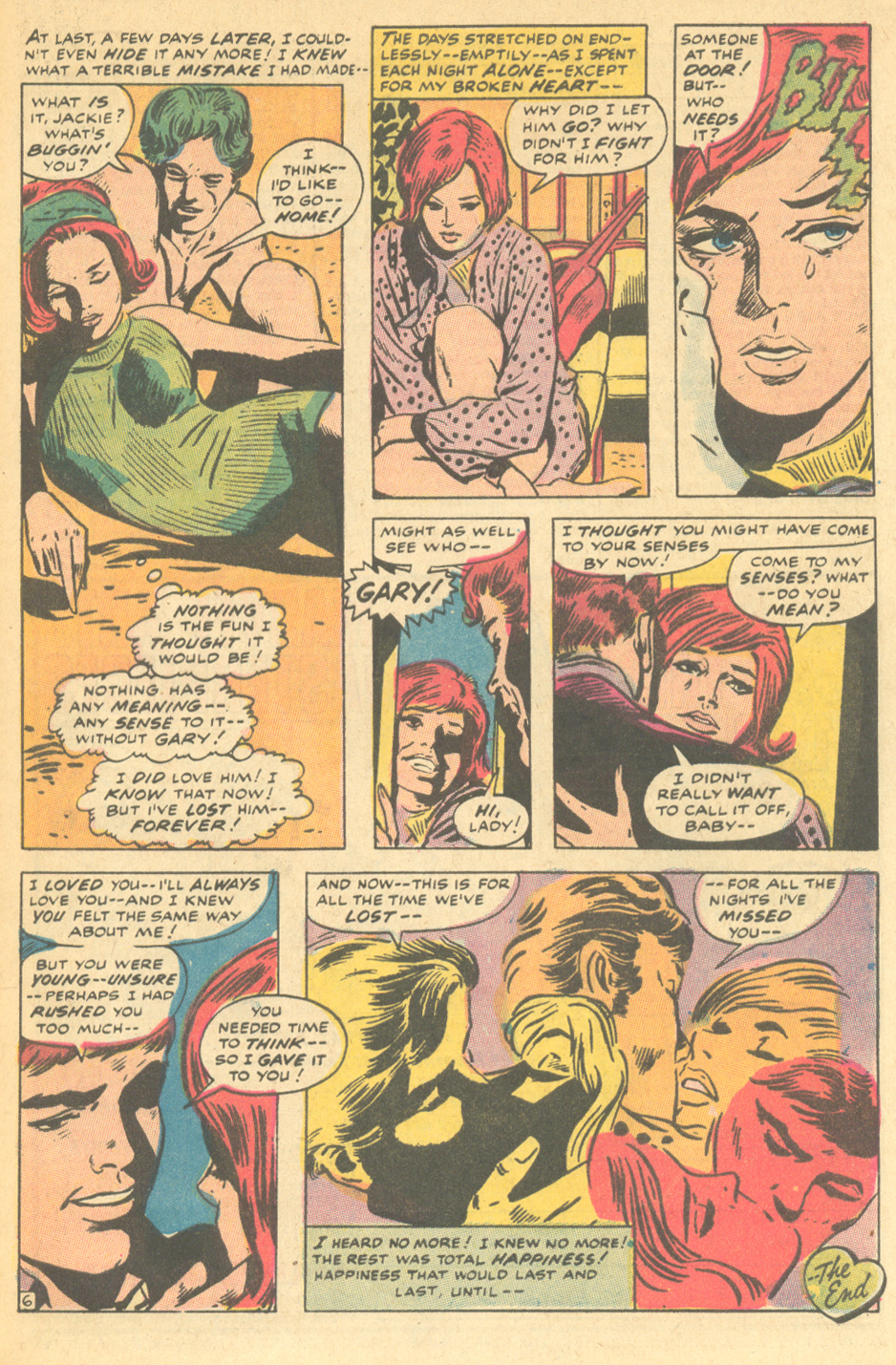 """Inks: Dick Ayers, """"I Loved You Once -- Remember?""""  My Love  # 9 (January 1971)"""