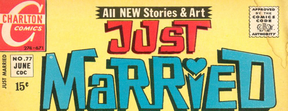 Just Married logo Charlton comic books