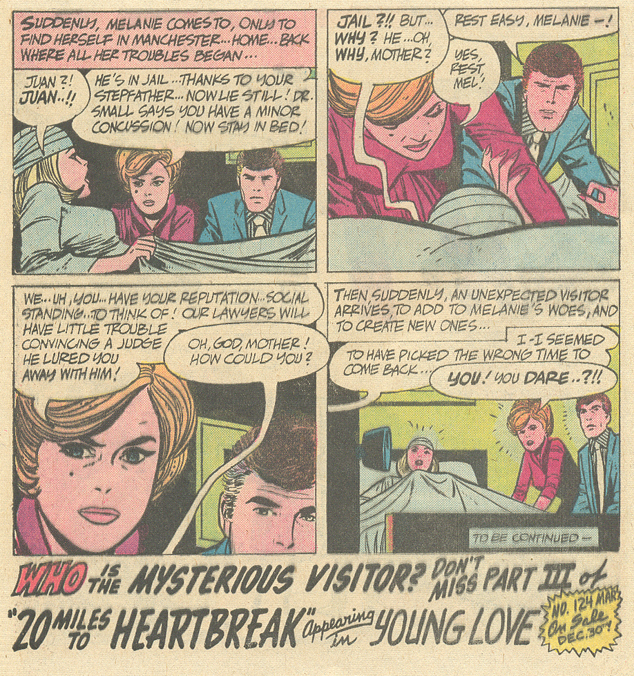 Secret hearts alex toth romance comic book series 20 miles to heart break