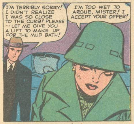 """""""He Never Even Noticed!"""" Originally from  Teen-Age Romance  #86 (March 1962), reprinted in  My Love  #10 (March 1971)"""