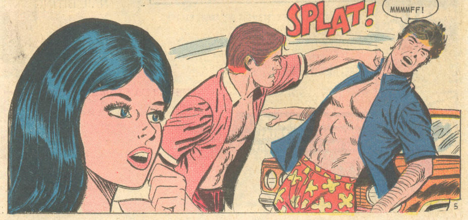 """""""Sweeter Kisses""""  For Lovers Only  #70 (March 1973) Pencils and Inks: Charles Nicholas"""